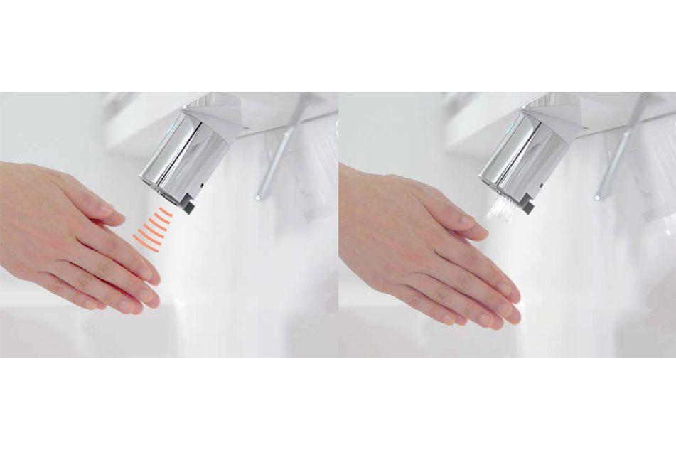 スタイリッシュなデザインと機能性を兼ね備えた洗面設備